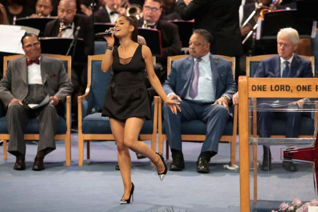 Tributo musical a Aretha Franklin en su funeral en Detroit