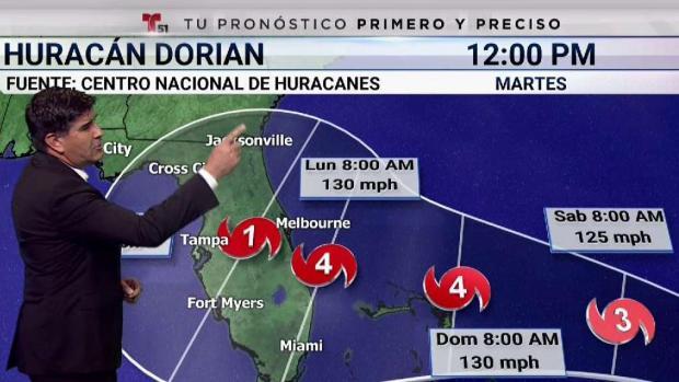 [TLMD - MIA] ¿Por dónde entraría el peligroso huracán Dorian?
