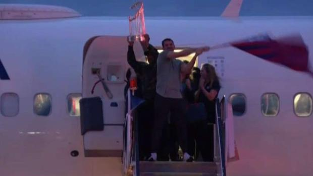 Los Nationals llegan a casa como campeones