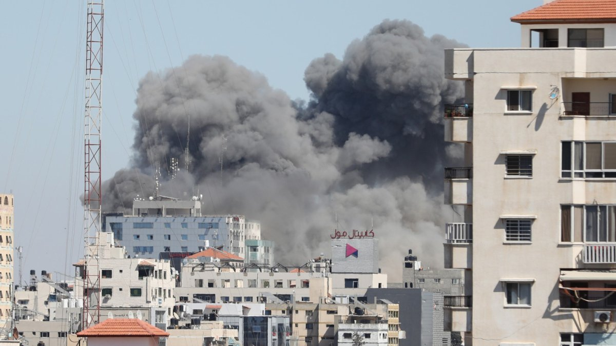Israel destroys building in Gaza that housed news agency headquarters