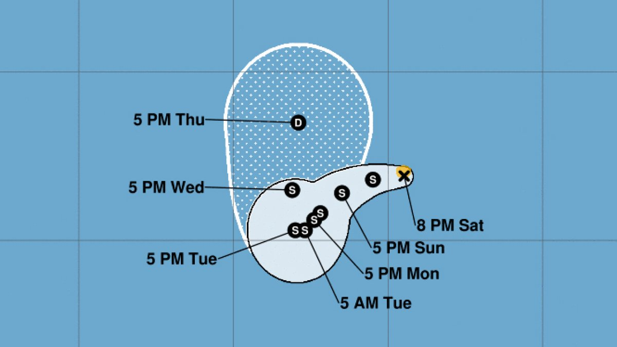 Tropical storm Carlos forms in the Pacific Ocean