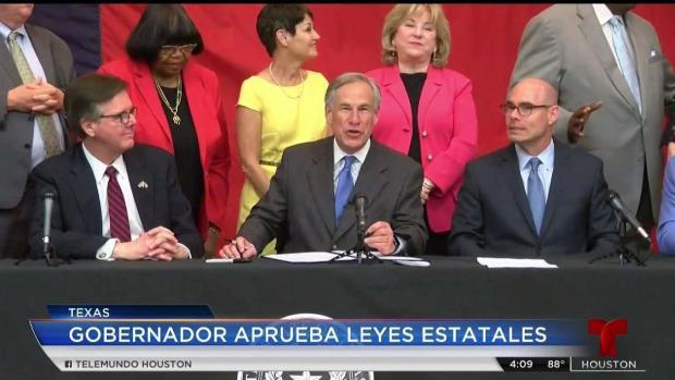 [TLMD - Houston] Gobernador Abbott firma leyes que benefician a texanos