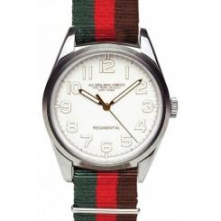 Regimental ivoire bracelet vert rouge et bordeaux Spalding, 185€
