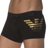 Boxer Xmas Eagle Stretch Cotton Noir Emporio Armani