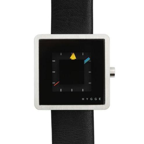 Montre Hygge series 2089 noir, bracelet cuir : 99€