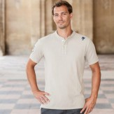 polo-maille-piquée-col-mao-m23-beige