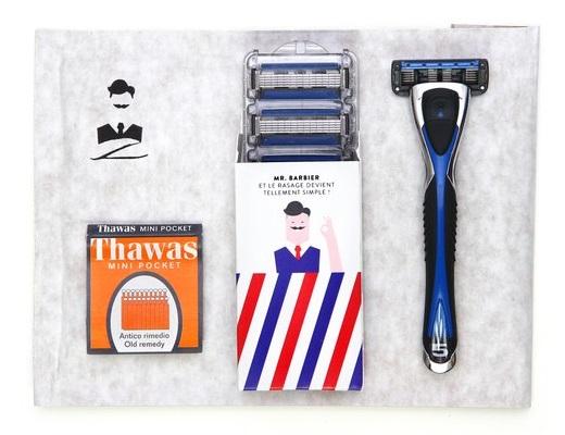 kit 5 lames et cadeau monsieur barbier