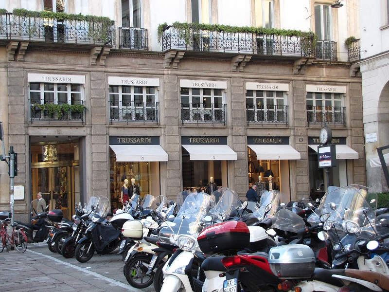 boutique trussardi place de la scala