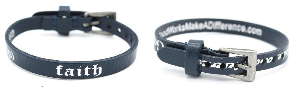 bracelet Good Works single bugle Faith Navy