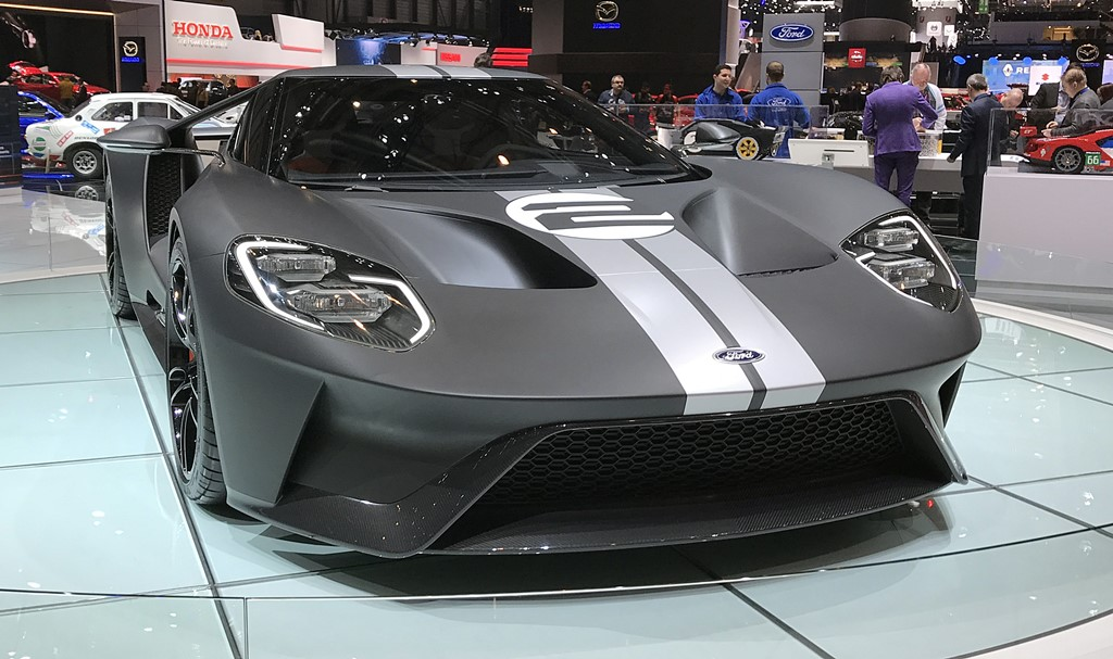 supercars Ford GT 66 Heritage Edition face