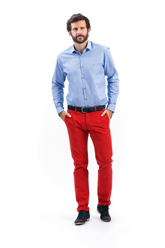 BRUNO SAINT HILAIRE chino rouge