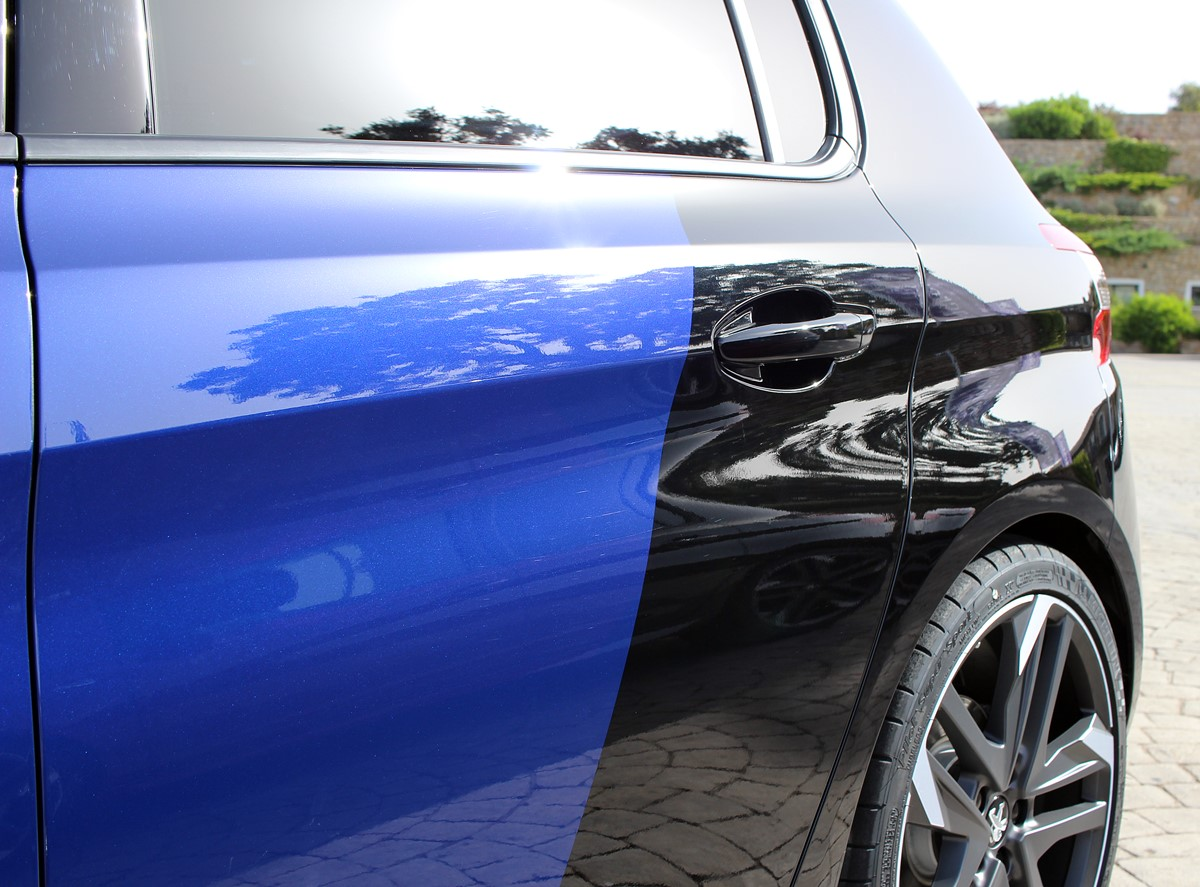 peugeot 308 gti coupe franche magnetic blue