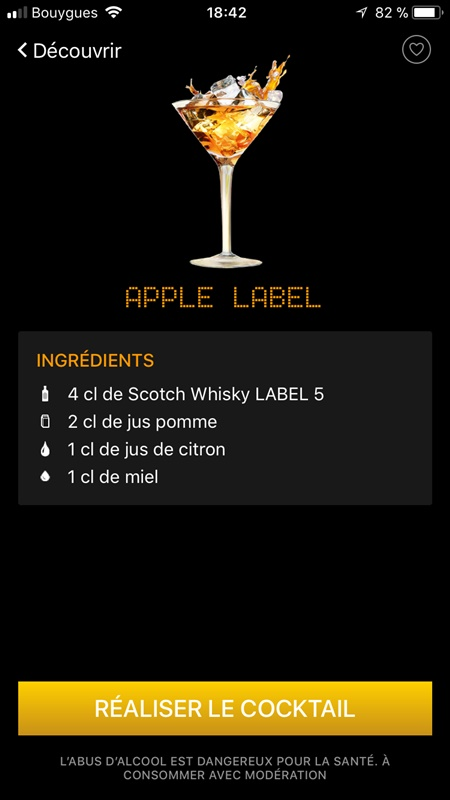 agitateur connecté - apple label app