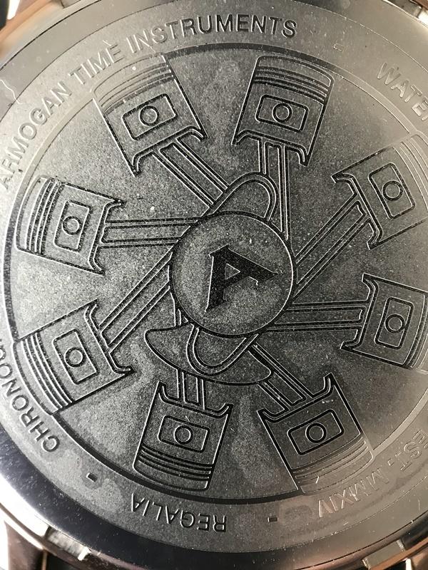 armogan regalia - motif piston dos boitier