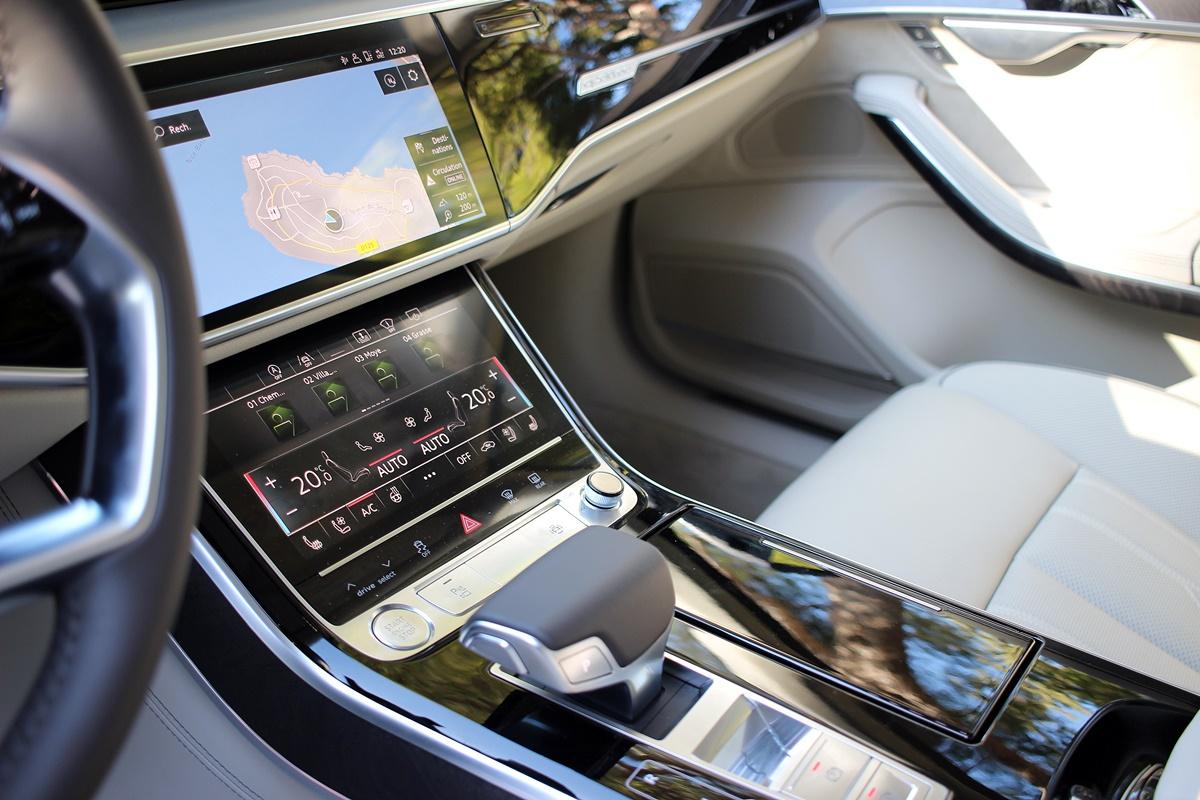 audi A8 console centrale levier de vitesse