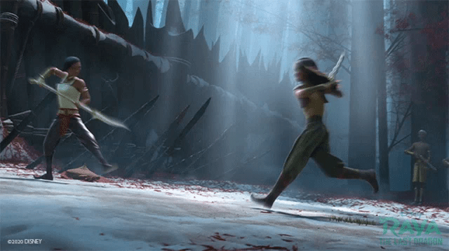 Sword Fight Raya GIF - SwordFight Raya Namaari - Discover & Share GIFs
