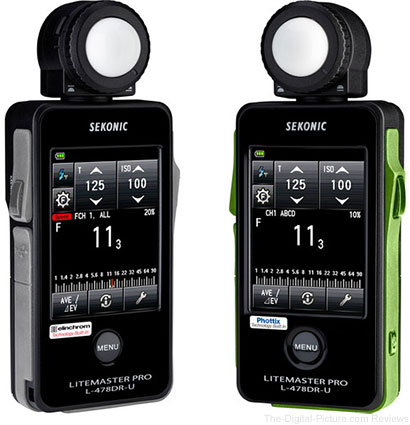 Sekonic Introduces New LiteMaster Pro Light Meters for Elinchrom and Phottix
