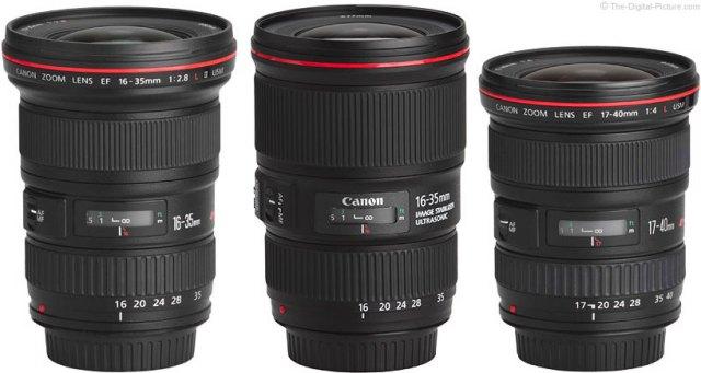 Should I Get the Canon EF 16-35 f/2.8L II, EF 16-35mm f/4L IS or the EF 17-40mm f/4L Lens?