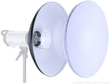 """Adorama Glow 28"""" White Beauty Dish"""