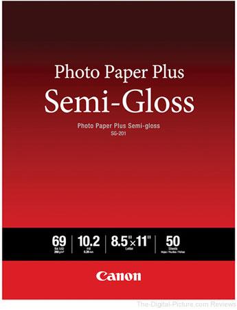 """Canon SG-201 Photo Paper Plus Semi-Gloss (8.5 x 11"""", 50 Sheets)"""