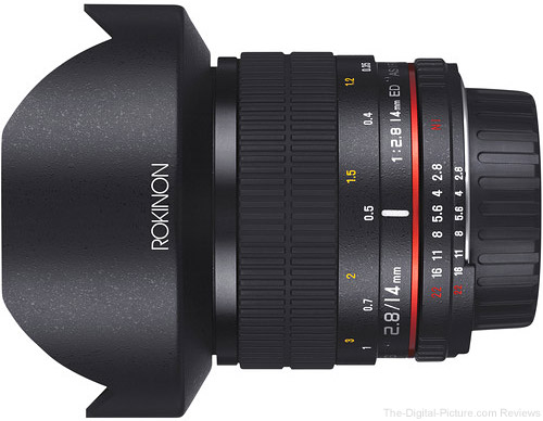 Rokinon 14mm f/2.8 IF ED UMC Lens for Canon with AE Chip - $  399.00 Shipped (Reg. $  499.00)