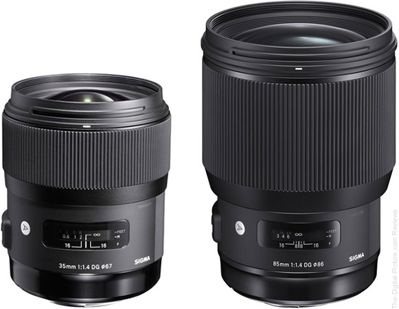 Save $  50.00 on the Sigma 35/85mm Art Lenses with Promo Code