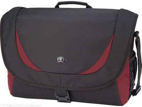 Tamrac 5725 Zuma 5 Photo/Laptop Shoulder Bag (Black/Burgundy)