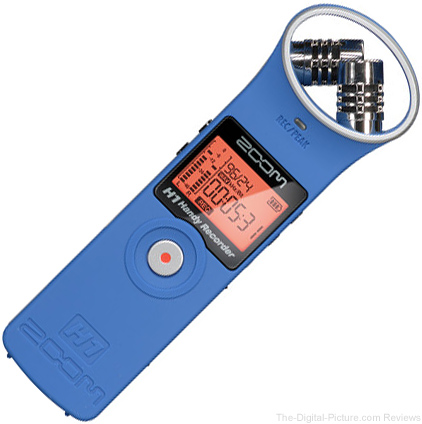 Zoom H1 Ultra-Portable Digital Audio Recorder (Blue) - $  64.95 Shipped (Reg. $  99.95)