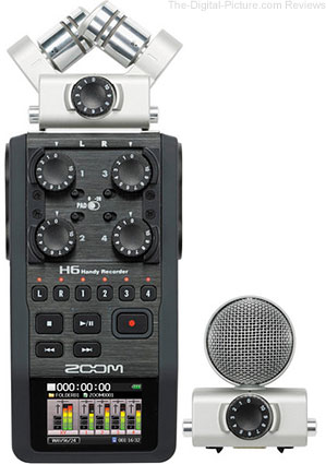 Zoom H6 Handy Recorder with Interchangeable Microphone System - $  299.99 Shipped (Compare at $  349.99)