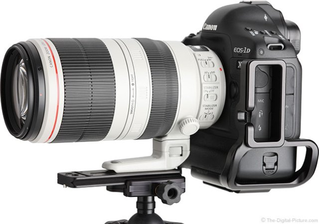 Canon EF 100-400mm L IS II USM Lens – Side View on EOS 1D X