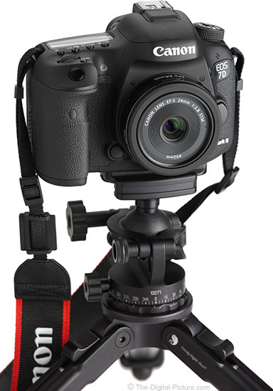 Canon EF-S 24mm STM Lens – Angle View on Tripod