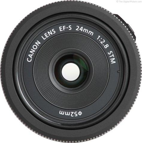 Canon EF-S 24mm STM Lens Front
