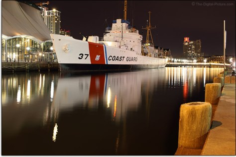 US Coast Guard Taney docked in Inner Harbor, Baltimore