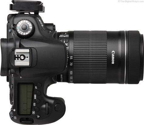 Canon EF-S 55-250mm IS STM Lens Top View