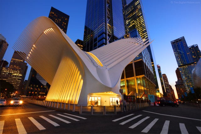 Canon 16-35mm L III Lens View of the World Trade Center Transportation Hub