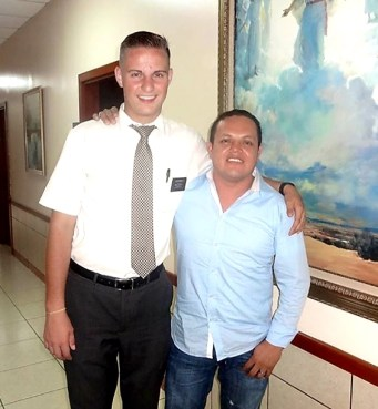 Utah State basketball star Sam Merrill, right, made lifelong friends during his mission in Nicaragua. He rejoiced in 2018 when the Church announced plans to build a temple in Nicaragua.
