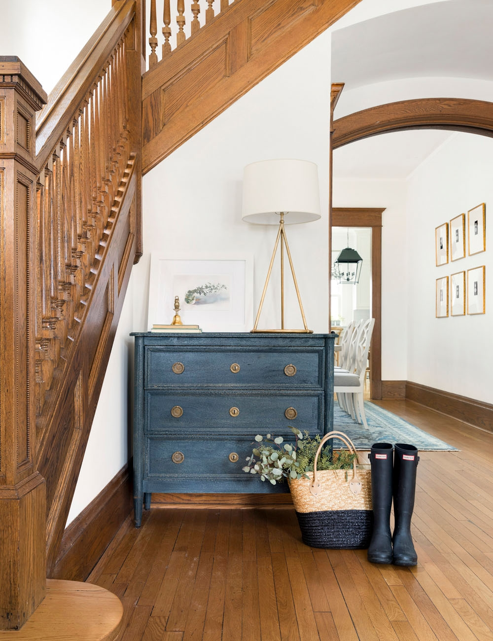 This House Is Full Of History With Modern Touches The Everygirl | House Interior Steps Design | Living Room | White | Architecture | Small | Low Cost