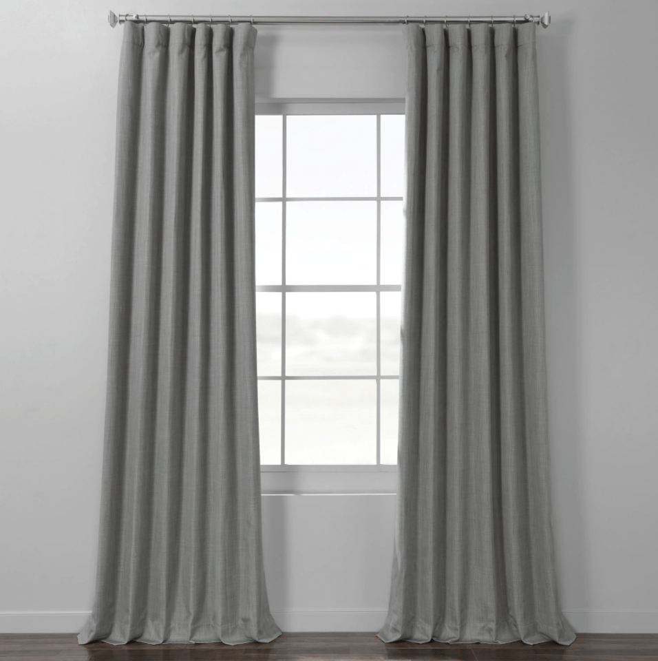 how to fake high end window treatments