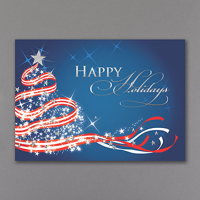 Patriotic Christmas Holiday Card Gt Seasons Greetings