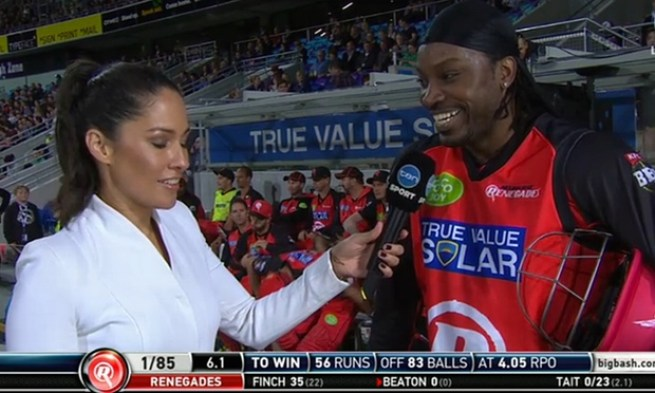 gayle flirting Chris gayle spouse, parents, bio, dob, family background, height, affairs, likes, controversies and more interesting facts about his personal life.