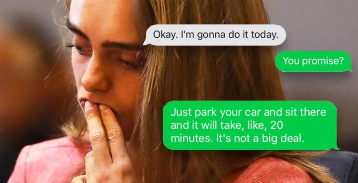 Image result for text message michelle carter texts