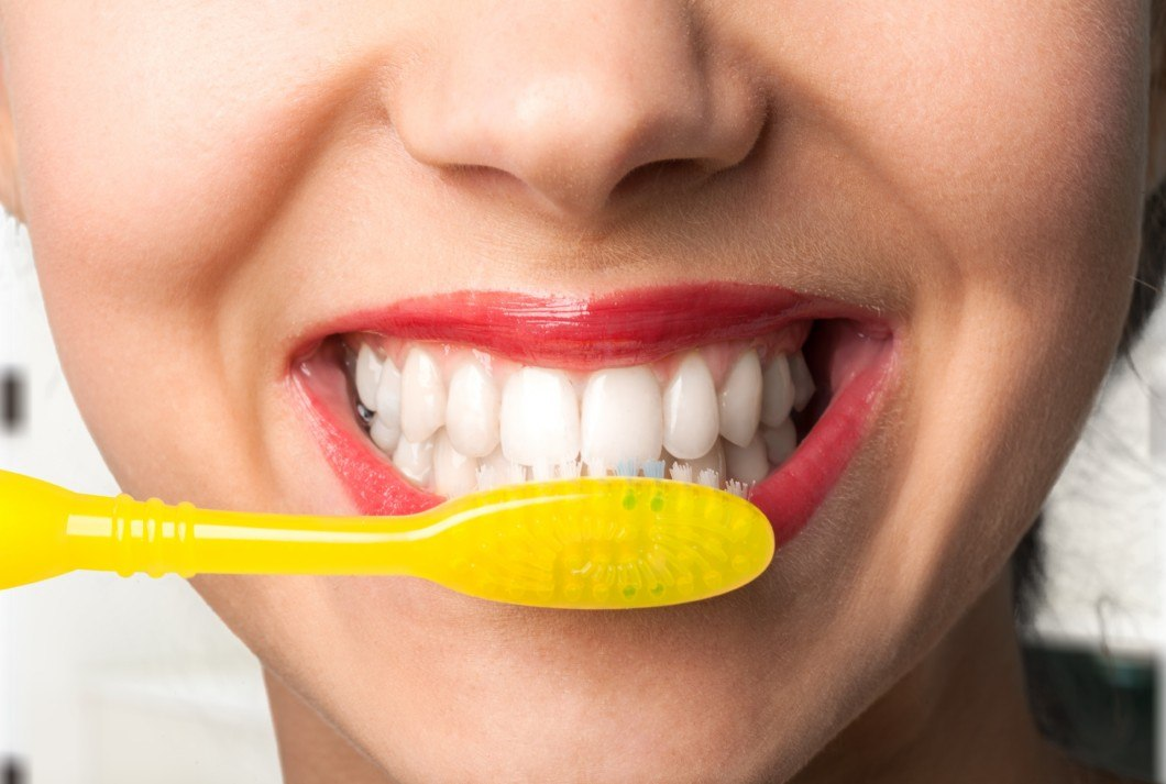 Image result for Proper brushing Yellow Teeth