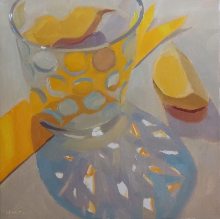 Yellow Bubble Glass