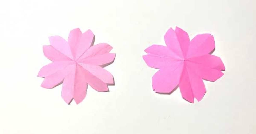切り絵 桜の図案(完成図)