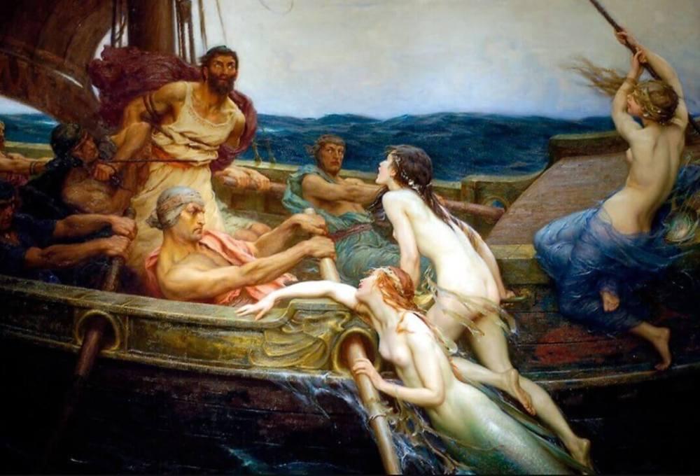 怖い絵 オデュッセウスとセイレーン