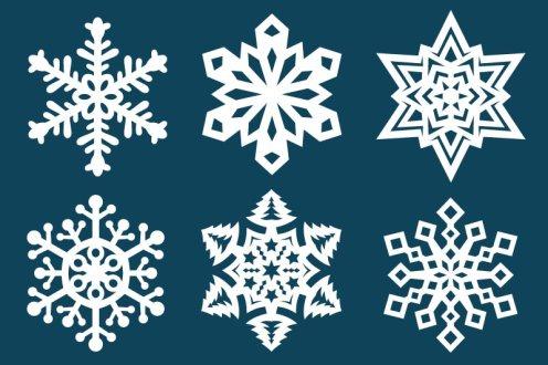 切り絵 図案 雪の結晶
