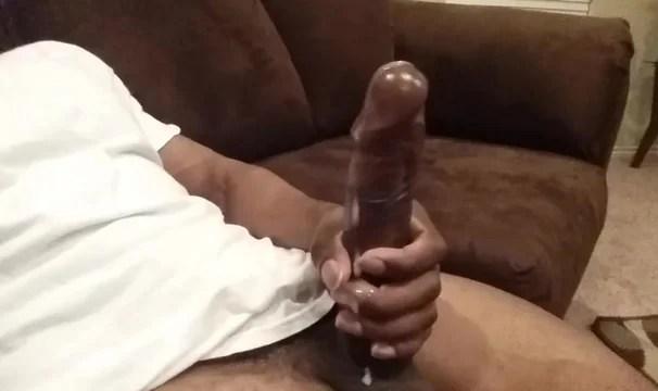 Huge Black Cock Cumming Hard