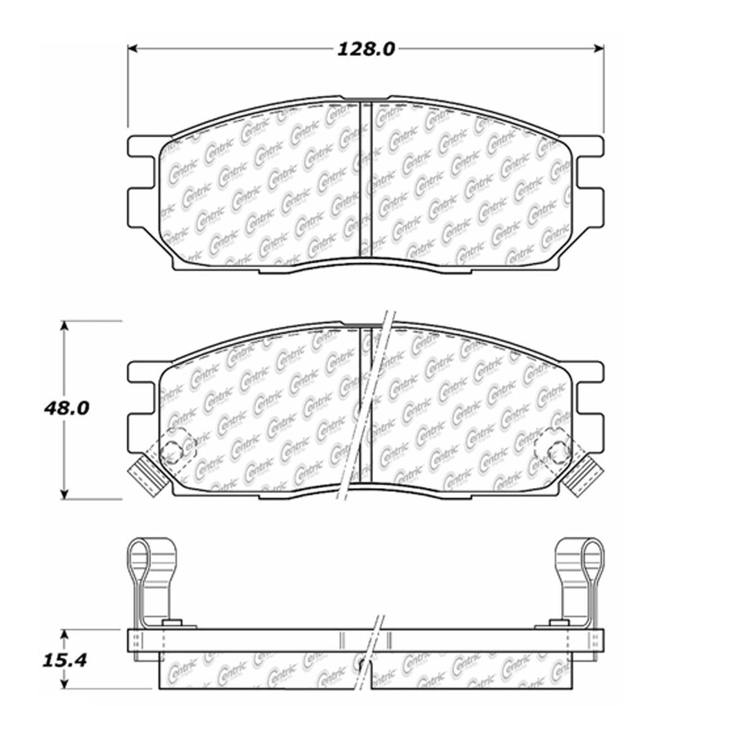 Centric 100 Range Rover Brake Pad Set