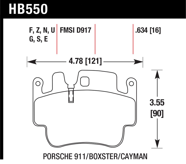 Hawk Hb550g 634 Dynamic Torque Control Brake Pads