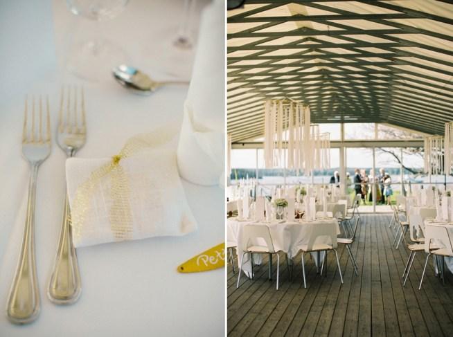 Dukat i vitt och guld för skärgårdsbröllop på Dalarö Skans Stockholm